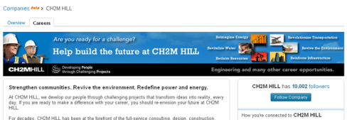 LinkedIn Recruitment CH2M Hill
